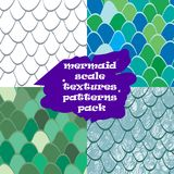 Mermaid scale texture pattern seamless.Reptile skin texture. Mermaid scale texture pattern seamless pack. Nautical pattern fish skin. Texture for web, print Royalty Free Stock Photography