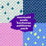 Mermaid scale texture pattern seamless.Reptile skin texture. Mermaid scale texture pattern seamless pack. Nautical pattern fish skin. Texture for web, print Stock Images