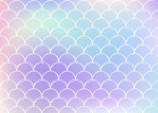 Mermaid scales background with holographic gradient. vector illustration