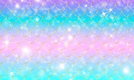 Mermaid scales. Fish squama. Rainbow pattern.