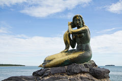 Mermaid sculpture Stock Photo