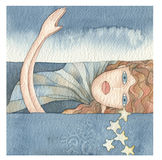 Mermaid of the sea royalty free stock images