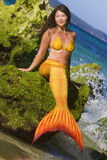 Mermaid on sea background Stock Photo