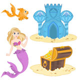 Mermaid Set Stock Photography