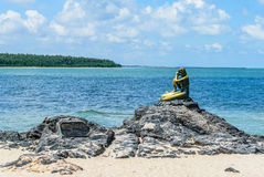 MERMAID IN THE SHORE OF SONGKLHLA. THIS LOCATED AT SONGKHLA THAILAND, THE CAPITAL. LANDMARK Stock Image