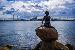 Mermaid Statue in Copenhagen stock photo