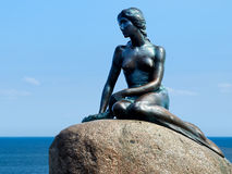 Mermaid Statue Copenhagen Denmark Royalty Free Stock Photography