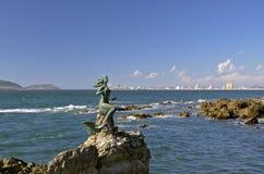 Mermaid statue in Mazatlan Stock Image
