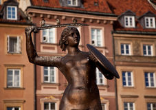 Mermaid Statue Warsaw Royalty Free Stock Photo