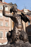 Mermaid statue in Warsaw. Royalty Free Stock Photo