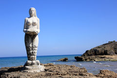 Mermaid statue, Zante island, Greece Stock Photos