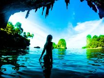 Mermaid on a stunning place royalty free stock photography