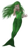 Mermaid Swimming Stock Photos