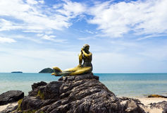 Mermaid symbol of Songkhla. At Samila beach Royalty Free Stock Photography