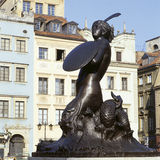 The mermaid Syrena in Warsaw, Poland Stock Photos