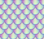 Free Mermaid Tail Scales Vector Seamless Pattern. Holographic Bright Fish Texture Stock Photos - 111910573
