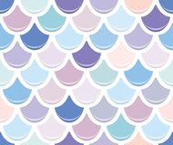 Free Mermaid Tail Seamless Pattern. Colorful Fish Skin Background. Trendy Pastel Pink And Purple Colors. For Print And Web. Stock Photos - 115618513