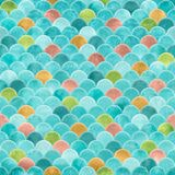 Textured seamless fish scale pattern in multicolour