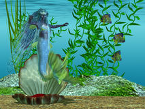 Mermaid Theadora Stock Photography