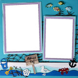 Mermaid Theme Digital Scrapbooking Page 12 X 12 Royalty Free Stock Photo