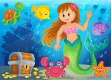 Mermaid theme image 3 Royalty Free Stock Photo