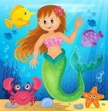 Mermaid theme image 2 Royalty Free Stock Photos