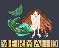Mermaid with title Stock Photography