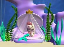 mermaid toon royaltyfri illustrationer