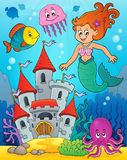 Mermaid topic image 2. Eps10 vector illustration Royalty Free Stock Photo