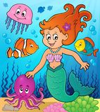 Mermaid topic image 3. Eps10 vector illustration Royalty Free Stock Image