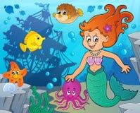 Mermaid topic image 4. Eps10 vector illustration Royalty Free Stock Image
