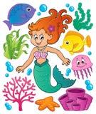 Mermaid topic set 1 Royalty Free Stock Photos