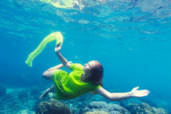 Mermaid underwater Stock Photos