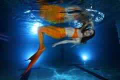Mermaid underwater Royalty Free Stock Photography