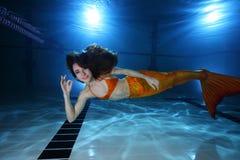 Mermaid underwater Royalty Free Stock Images