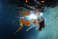 Mermaid underwater Stock Photos