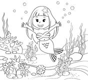 Mermaid. Underwater world Stock Photo