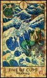 mermaid Vijf van koppen stock illustratie
