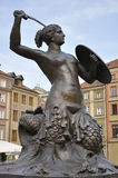 Mermaid of Warsaw Stock Photos