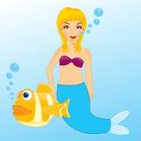 Mermaid in water Stock Image