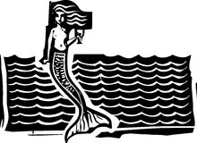 Mermaid and Waves Stock Photography