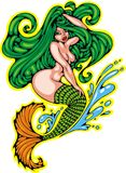 Mermaid woman isolated Royalty Free Stock Images