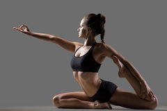 Mermaid yoga pose Royalty Free Stock Photos