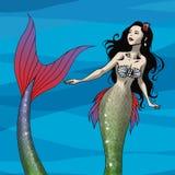 MermaidBNoBorder ilustración del vector