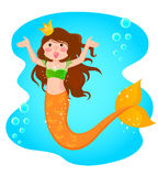 mermaidprincess Royaltyfri Fotografi