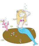 mermaidprincess Royaltyfri Foto