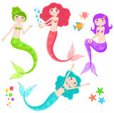 Mermaids collection Royalty Free Stock Images