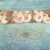 mermaids crying royalty free stock image