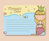 Mermaids printable sheet. Vector illustration graphic design Royalty Free Stock Photos