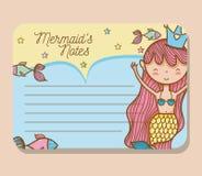 Mermaids printable sheet. Vector illustration graphic design Stock Photography